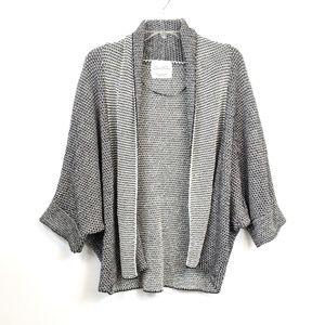 Zara oversized chunky knit dolman sleeve cardigan